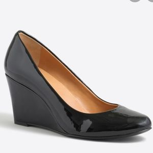 J. Crew Patent Leather Made In Italy Wedge Heels